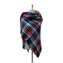 Winter Scarf 2016 Tartan Scarf Women Plaid Scarf Cuadros New Design Unisex Acrylic Basic Shawls Warm