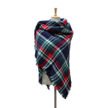 Winter Scarf 2016 Tartan Scarf Women Plaid Scarf Cuadros New Design Unisex Acrylic Basic Shawls Warm Bufandas