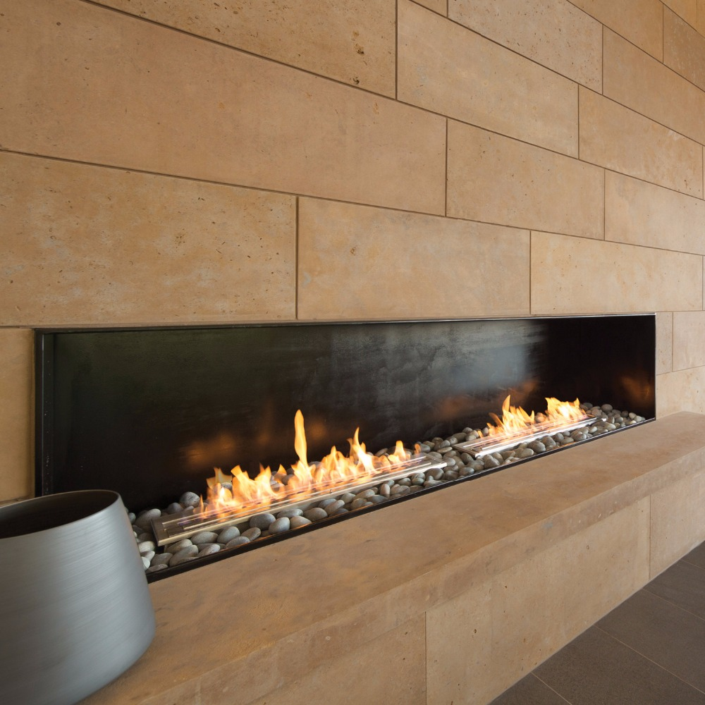 On Sale Outside Fireplace With Ethanol Burner Smart Control 36 Inch Biofireplaces