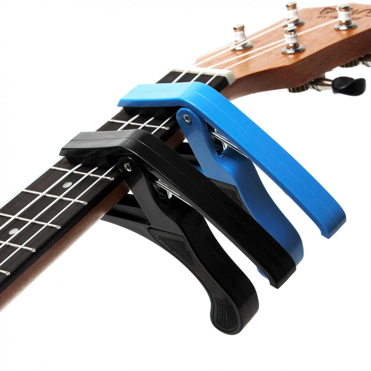 Acoustic Electric Guitar Capo Ukulele Capo Single-handed Tune Clamp Blue/ Black Color for optional