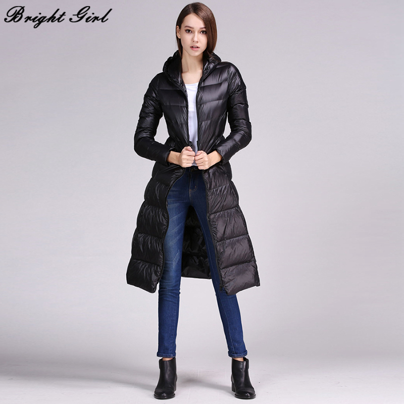 09dd2a831 US $68.35 30% OFF|BRIGHT GIRL Winter Jacket Women Down Jackets Women's Plus  Size Clothes Long Style Warm Coats Fashion Puffer Jacket Female-in Down ...