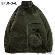 EFUNGAL carga chaquetas Abrigos Hombre ropa de diseñador 2018 invierno  cálido polar chaquetas de Hip Hop eda70de1d6a