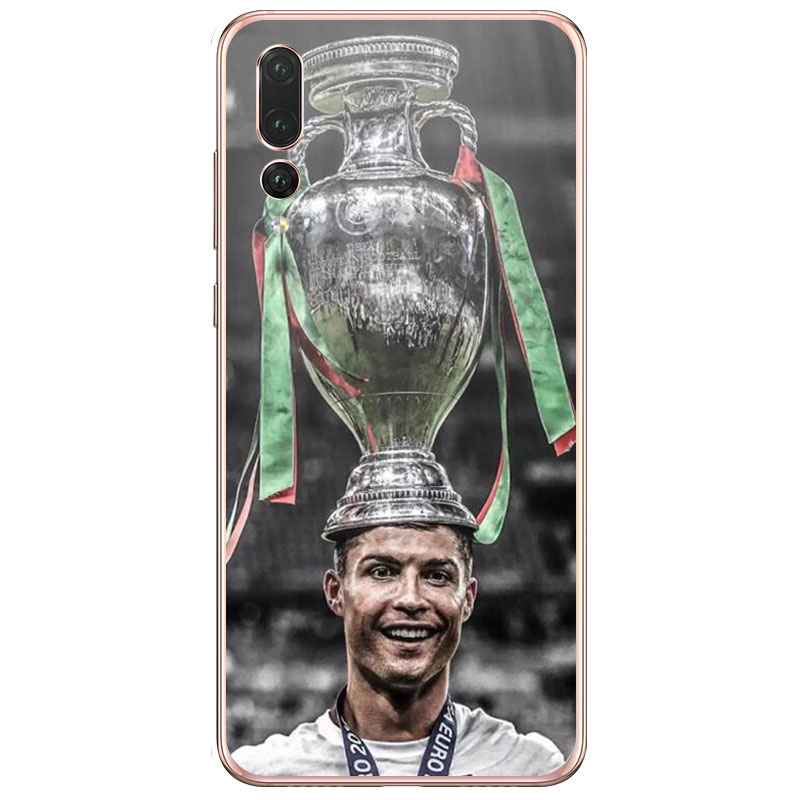 Football Pattern Cristiano Ronaldo CR7 Design Soft Silicone Phone Cases Cover for huawei Y9 2019 Y7 Pro 2018 Y7 Prime 2018 Y6 in Fitted Cases from Cellphones Telecommunications