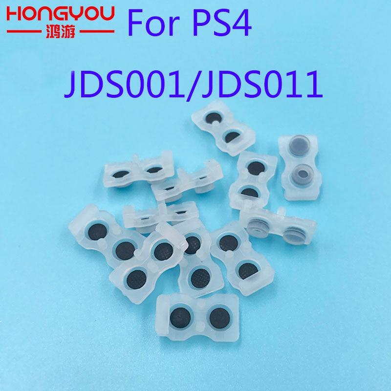 100Pcs JDS 001 011 L1 R1 L2 R2 Rubber Silicon Conductive Button Pad Set For Sony PS4 DualShock old version Conductive rubber pad