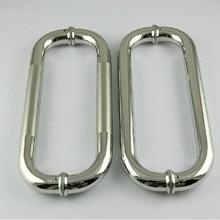 300mm Elbow stainless steel big gate door handle bright KTV office hotel wood door glass door pulls handles