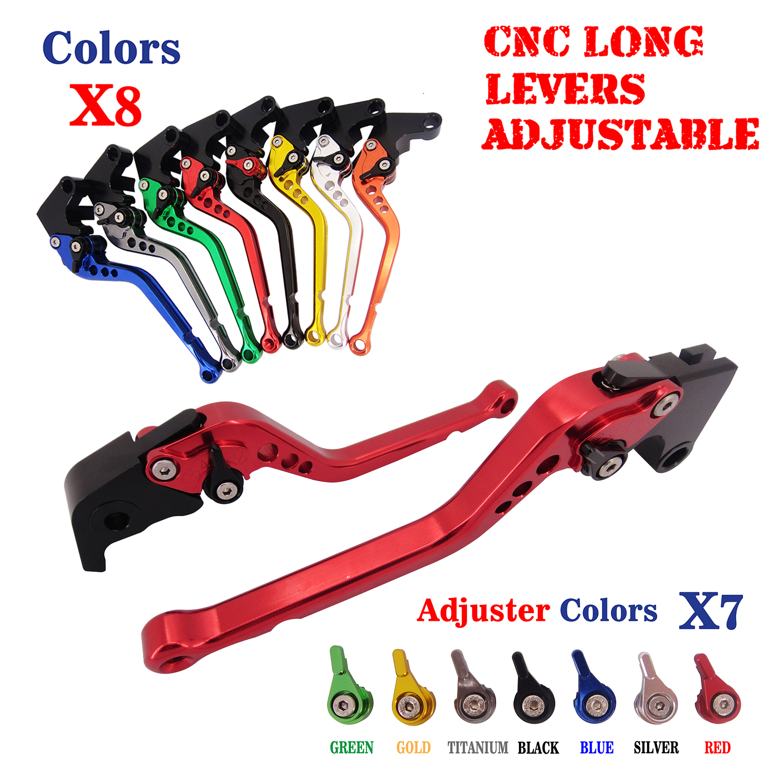 CNC Long Adjustable Brake Clutch Levers For Honda CB599/CB600 Hornet  CBR900RR NC700 NC750 S/X CBR600 F2 F3 F4 F4i 1991-07