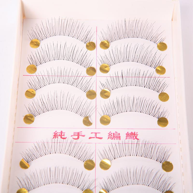10 Pairs Handmade Fake Eye Lashes Natural Long Thick False Eyelashes  Free Shipping M01240