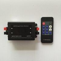 새로운 DC5-24V 192 w rf 단일 색상 조 광 기 무선 컨트롤러 무선 rf 원격