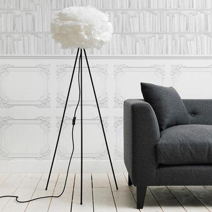 feder lampenschirm stand stehleuchte f r wohnzimmer nordic. Black Bedroom Furniture Sets. Home Design Ideas