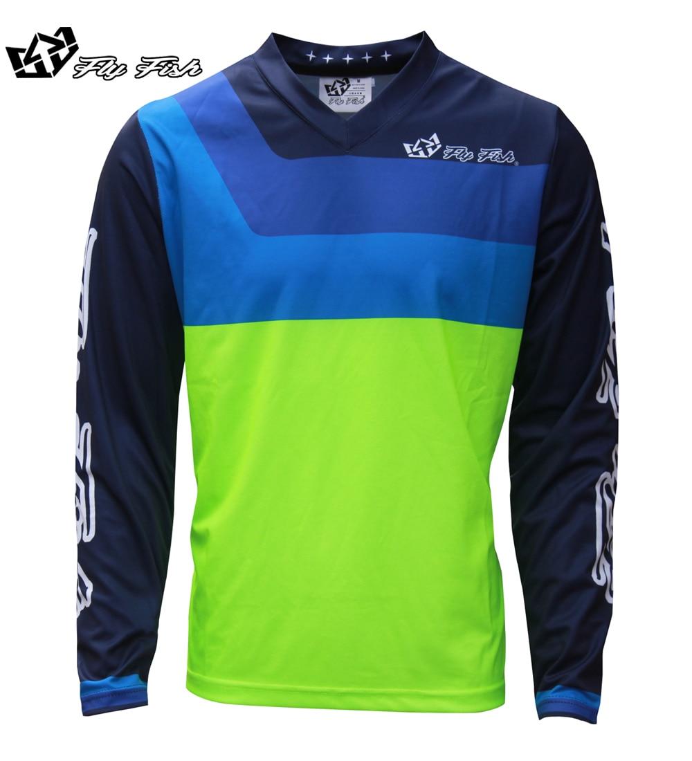 Летучая рыба Гонки мужские GP воздуха Prisma желтый Race Джерси MX ATV MTB Off Road Mountain Bike Moto Джерси DH BMX Moto крест Джерси ...
