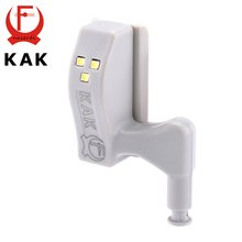 Brand KAK Universal Kitchen Bedroom Living room Cabinet Cupboard Closet Wardrobe 0.25W Inner Hinge LED Sensor Light System