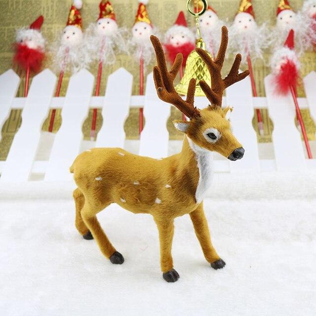 """15 20 25 ס""""מ צבי חג מולד איילי חג המולד איילים קטיפה סימולציה שנה החדשה מפלגה ספקי קישוטים לחג המולד עבור בית"""