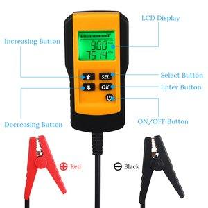 Image 4 - جهاز اختبار بطارية السيارة ، 12 فولت ، رقمي ، CCA ، محلل عمر البطارية ، جهاز اختبار حمل بطارية السيارة ، أداة تشخيص لجل الفيضانات AGM