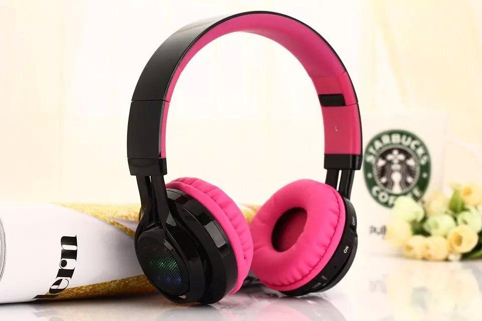 New Over-ear Wireless Bluetooth Stereo headphone LED Headphones Headset Earphone car charger bluetooth wireless headphones in ear earphone headset mini stereo headphone white color
