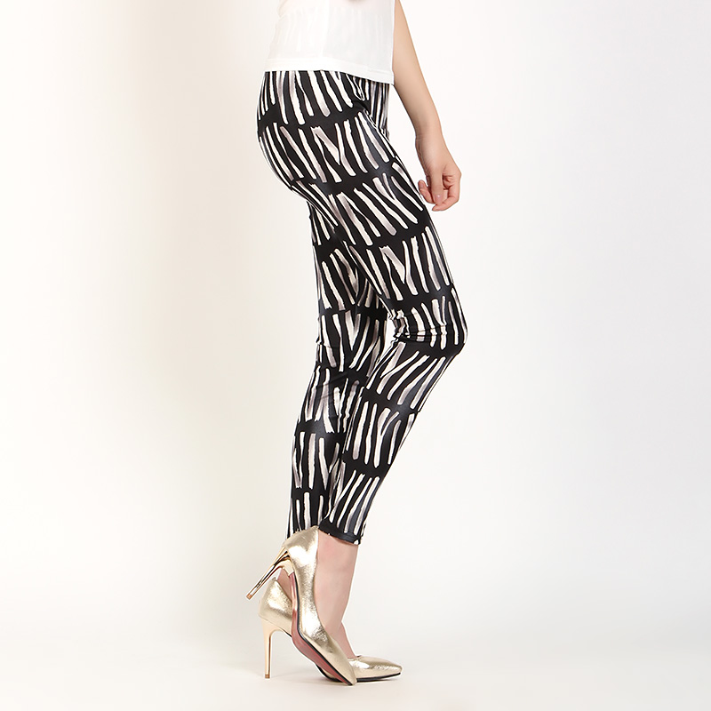Nueve Pantalones Pantis Seda Primavera Impresión Multiple De Fino Lápiz Aw0axHW10q