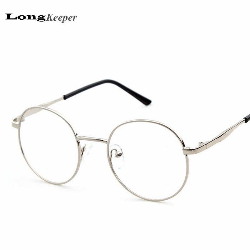 LongKeeper Lunettes Rondes Cadre Rond Jante Lunettes Cadres Femmes Hommes  Optique Myope Eyewares Alliage lunettes de grau PGX003 f53a5f020637