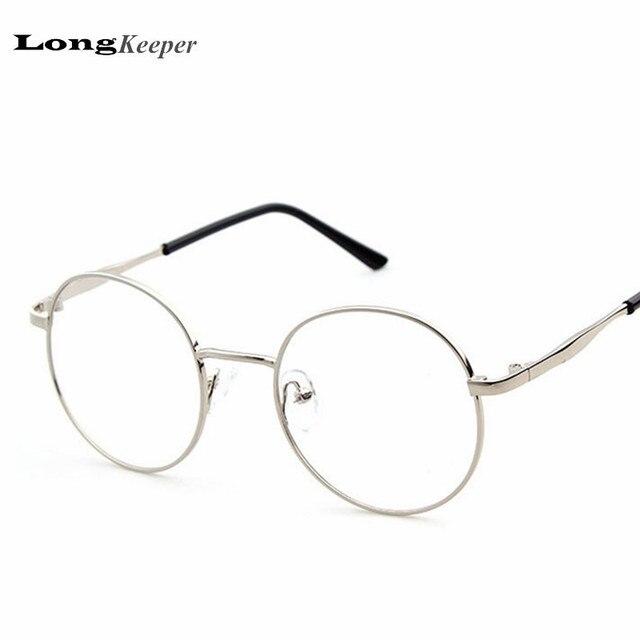 LongKeeper Rodada Óculos de Armação Armações de Óculos de Aro Redondo  Mulheres Homens Liga Eyewares óculos d00520af47
