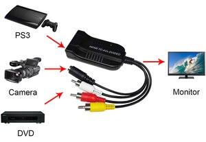 Image 5 - HDMI إلى AV CVBS S video محول محول مركب R L الصوت عالية الوضوح الوسائط المتعددة Interface1080P صندوق تحويل الفيديو