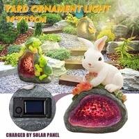 Oferta Juego de iluminación Solar LED impermeable conejo tortuga mariposa Rana Caracol patrón de animales luz nocturna