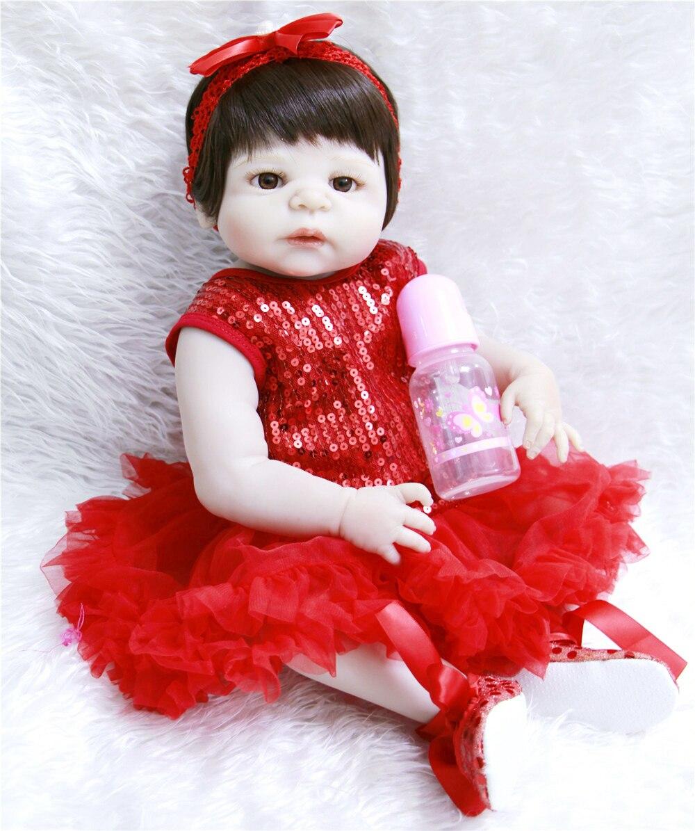 Bebes reborn menina NPK 57 cm Corpo Cheio de Silicone Bebê Reborn Bonecas Victoria Nova Moda menina princesa Boneca de brinquedo de presente bonecas