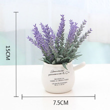 купить Romantic Provence Decoration Lavender Bonsai Flower Mini Artificial Flowers Grain Decorative Simulation Fake Plants China Vase онлайн