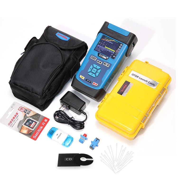 KOMSHINE-QX45-OTDR-1310-1550nm-as-JDSU-OTDR-with-500m-OTDR-jump-cable-box-SD-Card