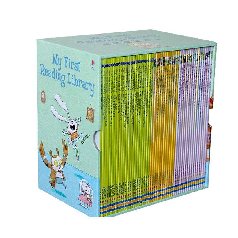 50 книги/комплект Асборн мой мое первое чтение библиотека английский Иллюстрированная история книги для детей слова руководство обучение р...