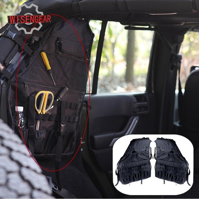 € 112.53 |2x sacoche de rangement noire pour barre roulante sacoche pour Jeep Wrangler JK 2007 2016 boîte de rangement multi outils # CE011 dans