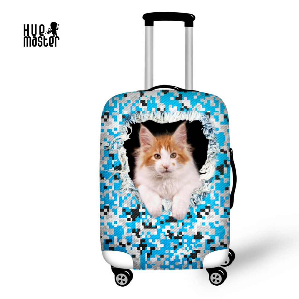 Travel Accessories Suitcase Protective Covers Waterproof Dust Blue  Camouflage Trolley Case Cover Cat Printing Luggage Cover 7a0b81603feac