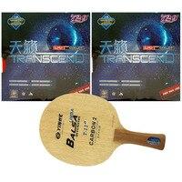 Pro Masa Tenisi (PingPong) Combo Raketi: galaxy YINHE T-11 + 2x RITC 729 Dostluk TRANSCEND CREAM Uzun shakehand FL