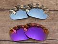 Cromo Plateado y Púrpura 2 Pares de Espejo Polarizado Lentes De Repuesto Para Pit Bull Marco de Gafas de sol 100% protección UVA y Uvb