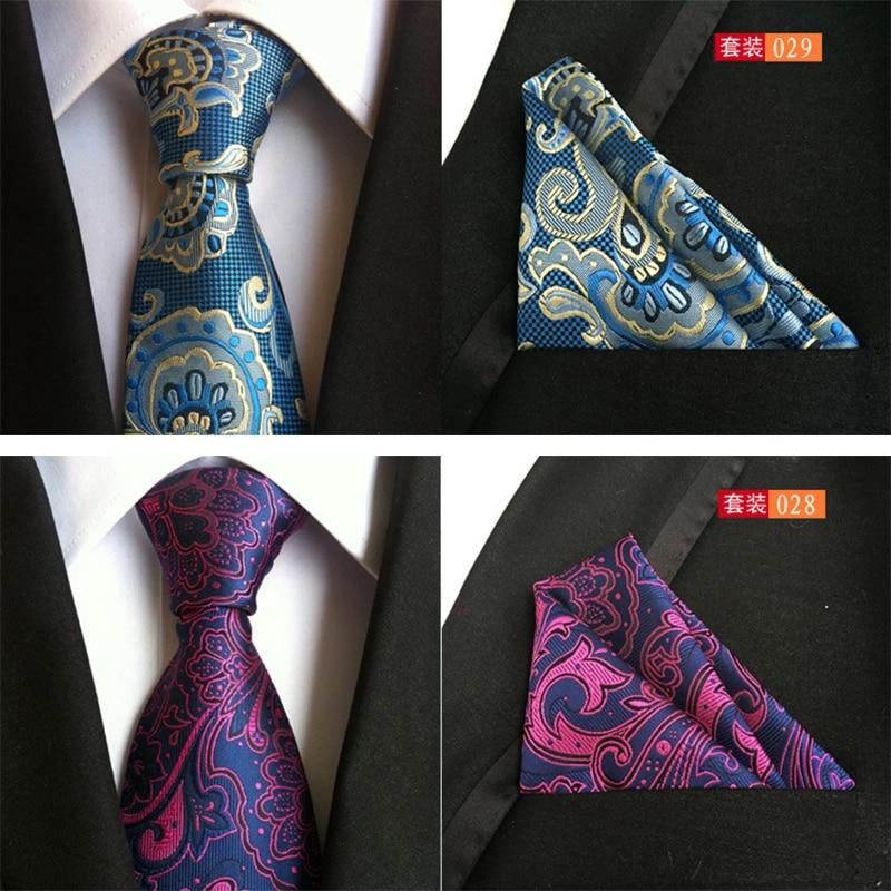Mantieqingway Neue Ankunft Mens Anzug Krawatte Set Polyester Taschentücher 8 Cm Krawatten Für Männer Hochzeit Tupfen Krawatte
