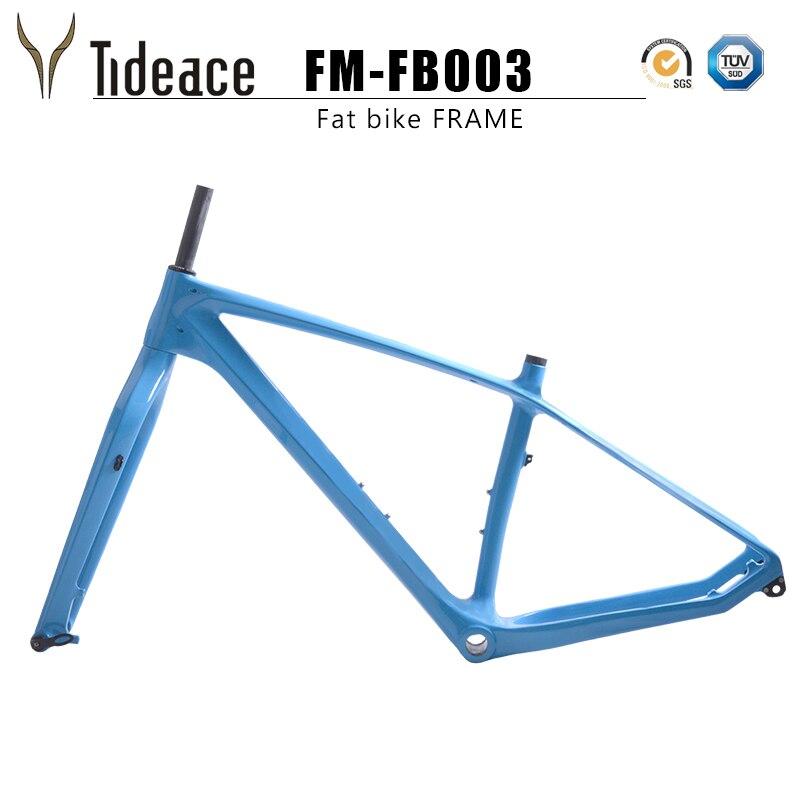 2018 free ship carbon fat bike frame with fork 26er BSA carbon snow bike frameset carbon fat bike frame+fork+thru axle shaft