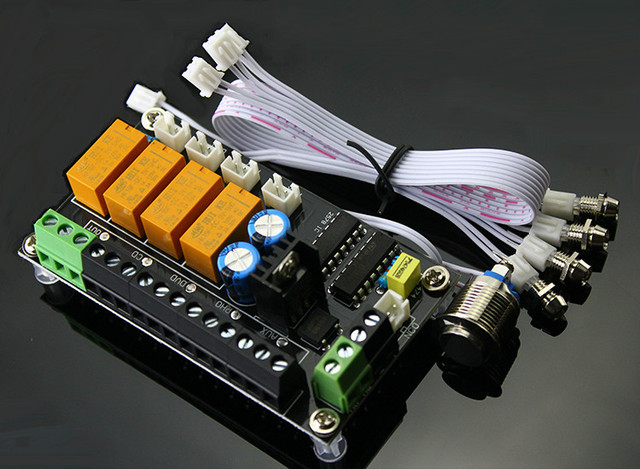 touch audio wiring low cost stereo audio source switching board touch button 4 way  stereo audio source switching board