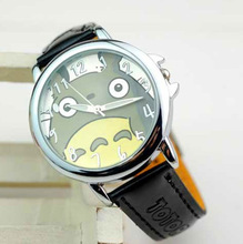 Totoro Pattern Leather Wrist Watch