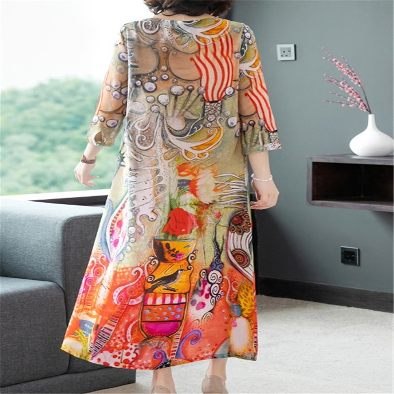 A chiffon dress with a voluminous print that shows off a slim figure for spring summer 2019 in Dresses from Women 39 s Clothing