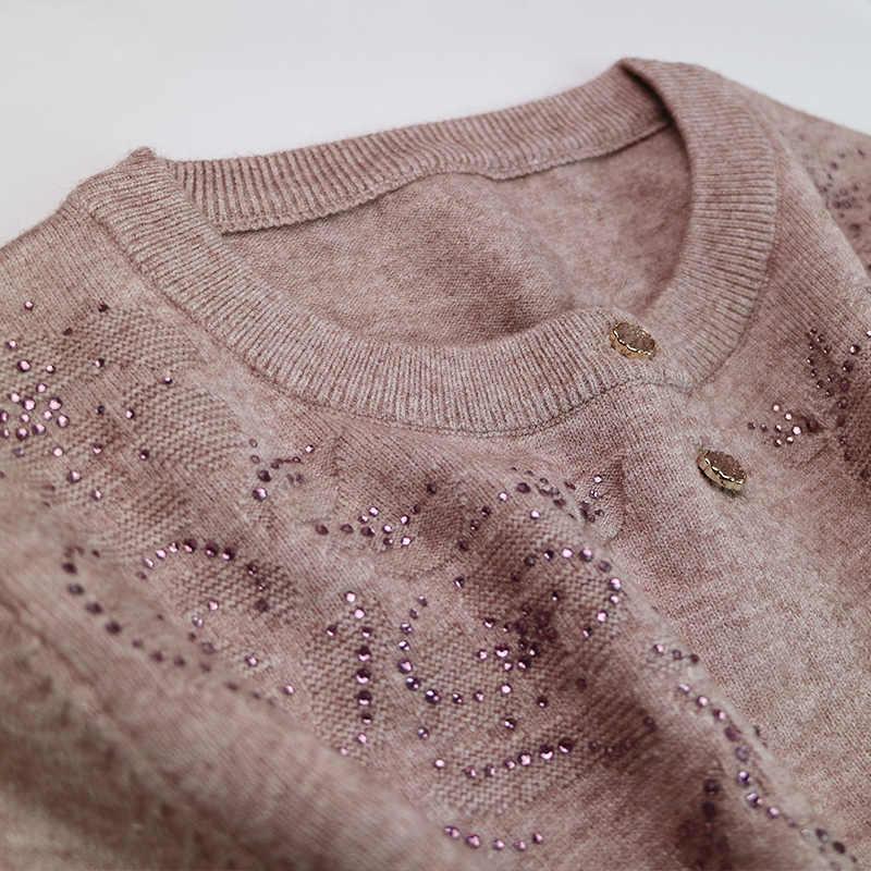 2019 Новая мода mama, женский осенний зимний Топ свитер, одежда для пожилых людей, женская одежда, вязаный свитер.
