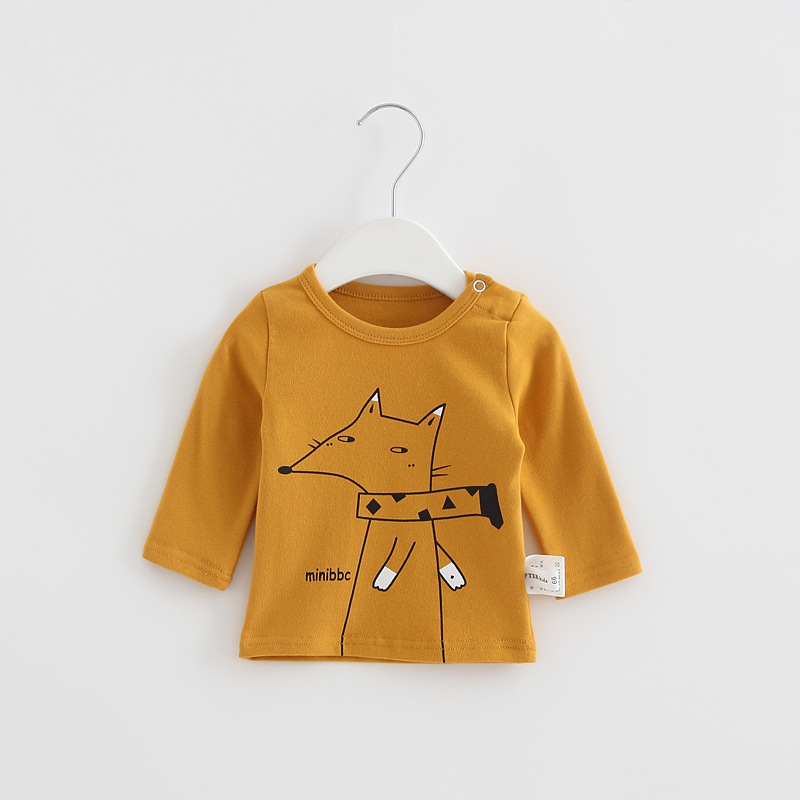 2017 Toddler Kids Baby Boys Girls Infant spring Autumn Long Sleeve cartoon Fox T-Shirt Tops Clothing Cotton cloud rain T-Shirts (24)
