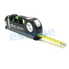 Laser Light Beam Measure Tape Multipurpose Level Laser Horizon Vertical Measure Tape Aligner Bubbles Ruler #H028#