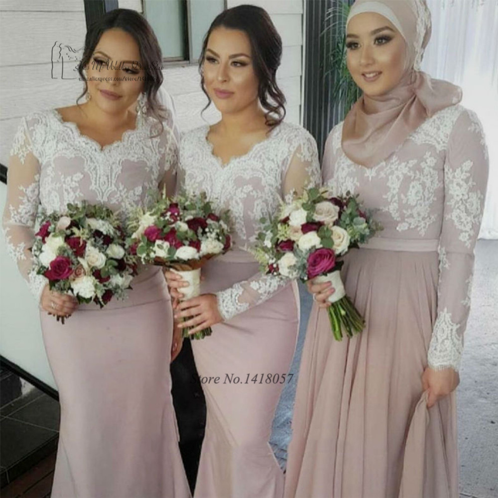 Aliexpress.com : Buy Cheap Long Sleeve Muslim Bridesmaid