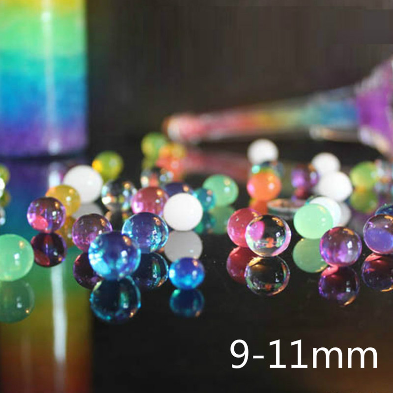 9-11mm 10000Pcs Soft Crystal Water Paintball Bullet Gun Toy Bibulous Water Gun Accessories Toys outdoor toys for children
