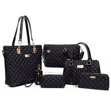 Frauen Tasche Set Top-Griff Taschen 6 Stücke Marke 2017 Frauen Umhängetasche Geldbörsen und Handtasche PU Leder Composite-taschen Hohe qualität