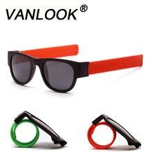 Slap Sunglasses Polarized Women Slappable Bracelet Sun Glasses for Men Wristband Fold Shades Oculos Colorful Fashion Mirror