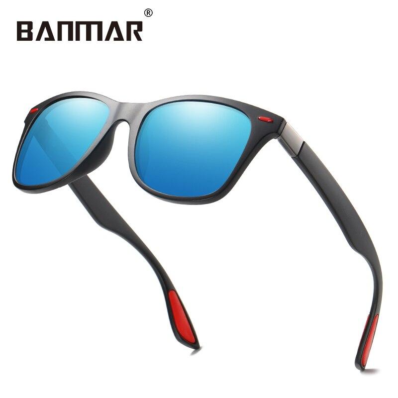 BANMAR Brand Design Classic Polarized Sunglasses Men Women Driving Square Frame Sun Glasses Male Goggle UV400 Gafas De Sol Shade 1