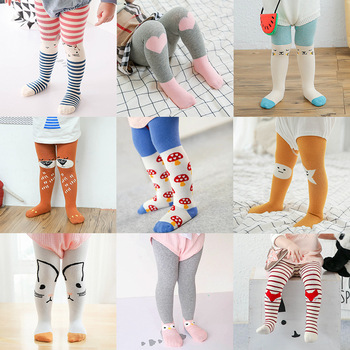 New Autumn Winter Girls Cotton Fox Tights Child Baby Cartoon Pantyhose Baby Print Stockings D0071 tights
