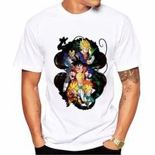 Dragon Ball Bulma Goku Print Men T-shirt