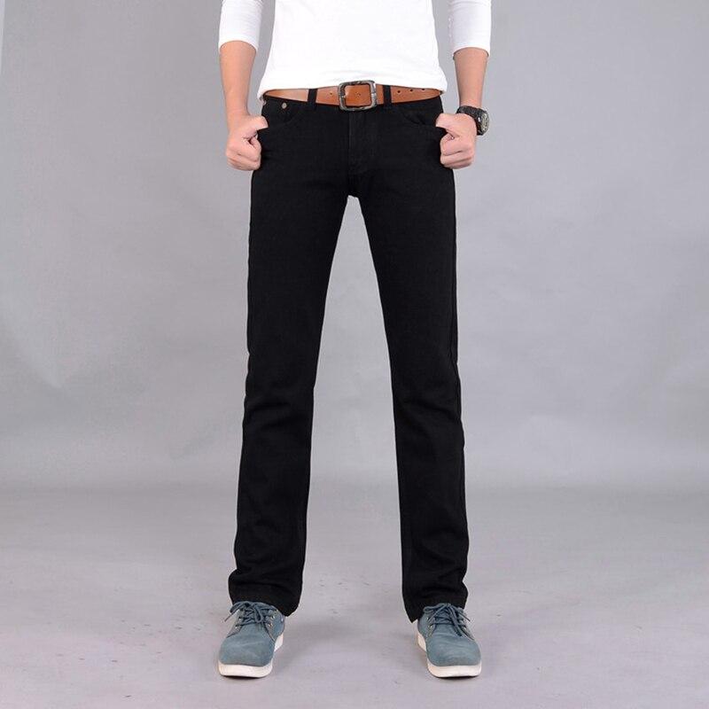 Hot Sale 2017 New Arrival Four Season Men Jeans,Retail & Wholesale Slim Straight Black/Blue Color Brand Cotton Jeans Men SIZE 38