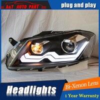 front light 2011 2015 For vw passat b7 headlights parking bi xenon lens LED DRL H7 xenon For vw passat HEAD LAMPS car styling