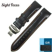 Tissot 1853 용 곡선 엔드 가죽 시계 밴드 Watch Strap Couturier T035 417 617 627 T035439 18mm 22mm 23mm 24mm Watchband Reloj