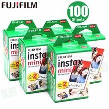 100 листов Fujifilm Instax Mini 8 film для Fuji 7s 9 70 25 50s 90 мгновенная фотокамера белая фотография